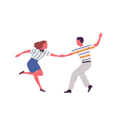 faceless artistic pair holding hands dancing vector image