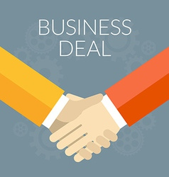 Flat design Business deal concept Handshak vector image