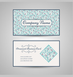 floral style business card template vector image