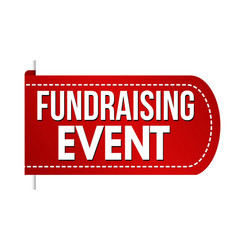 fundraising event banner design vector image