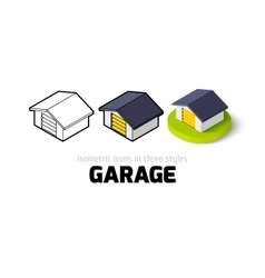 Garage icon in different style vector image