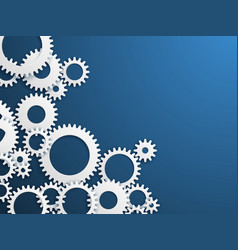 Gears technology background gear wheels vector