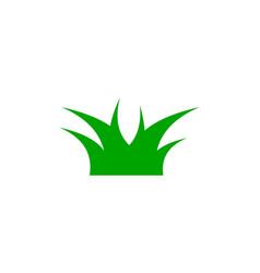 grass logo design template vector image