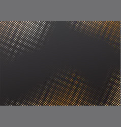 halftone effect whit golden background vector image