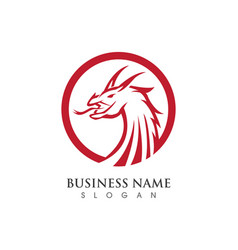 head dragon logo template vector image