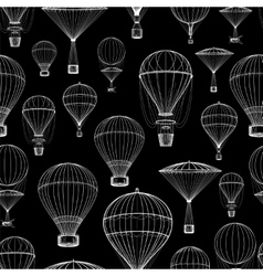 Hot air balloon seamless pattern vector image