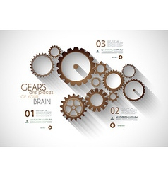 Infographic timeline with Gear mechanic concept vector