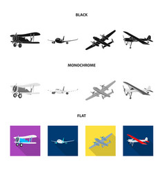 isolated object of plane and transport sign vector image