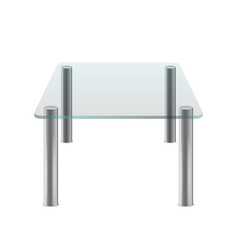 Isolated on white transparent glass clean empty vector