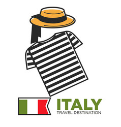 Italy travel destination promo banner with local vector