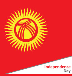 Kyrgyzstan independence day vector