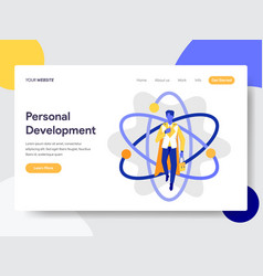 Landing page template personal development vector