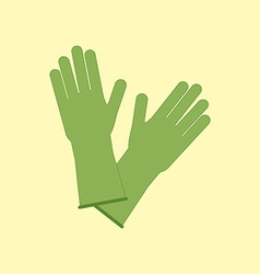 Latex Rubber Gloves vector image