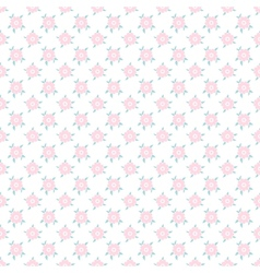Light floral romantic pattern tiling vector image