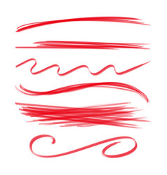 line brushes hand drawn strokes vector image