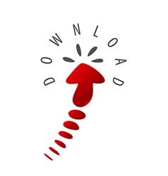 Logo arrow cursor to download vector