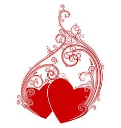 Love hearts design vector