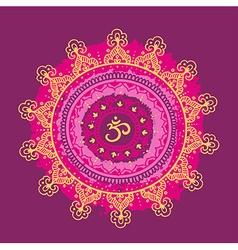 Mandala om Round Ornament Pattern Vintage vector