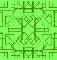 Many symmetrical grass rhombuses and squares on a vector