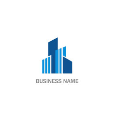 modern building abstract company logo vector image