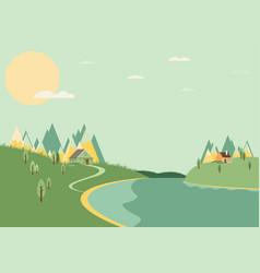 Natural landscape vector