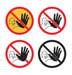 No entry signs access icon set vector