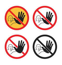 No entry signs no access icon set vector