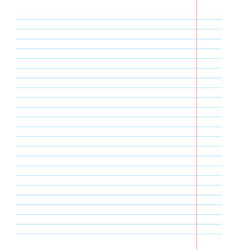notebook page template with lines vector image