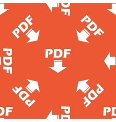Orange PDF download pattern vector