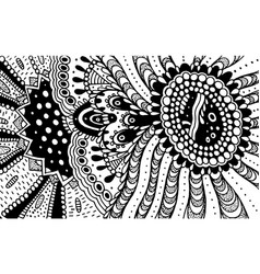 ornament doodle pattern for coloring book for vector image