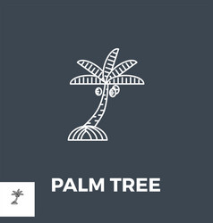 palm tree line icon vector image