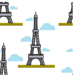 paris architecture eiffel tower france symbol vector image
