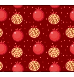Pomegranate seamless pattern Garnet fruit endless vector