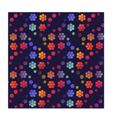 Pretty floral print seamless background flower vector