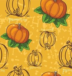 Pumpkin pattern background vector
