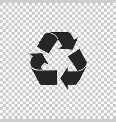 Recycle symbol icon on transparent background vector
