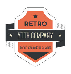retro corporate identity isolated vintage icon vector image