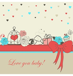 Romantic card vector image