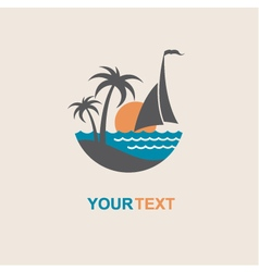 Sailboat and yacht icon vector