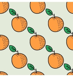 Seamless hand-drawn pattern with orange vector image