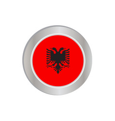Simple albanian flags isolated in official colors vector