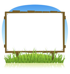 summer or spring country wood billboard vector image