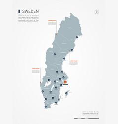 Sweden infographic map vector