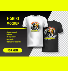 T-shirt template fully editable with off-road vector
