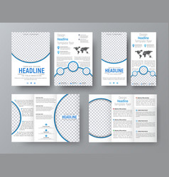 templates of flyers brochures of standard size vector image