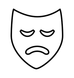 Theater mask isolated icon design vector