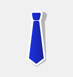 tie sign new year bluish vector image