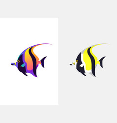 tropical fish moorish idol vector image