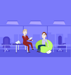 Two business interview for vacancy job position vector