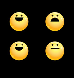 volume set of smileys vector image